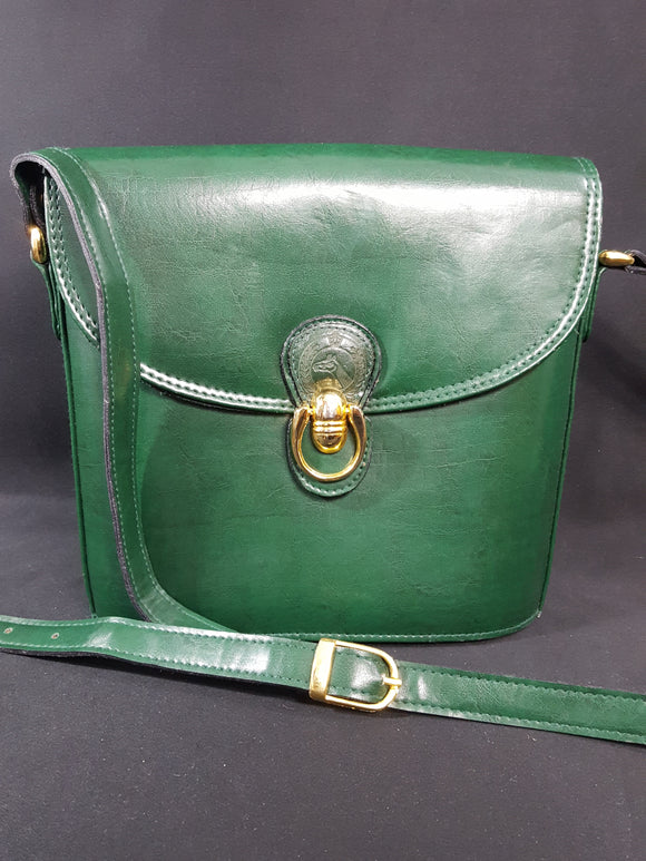 Vintage Dark Green Leather Handbag