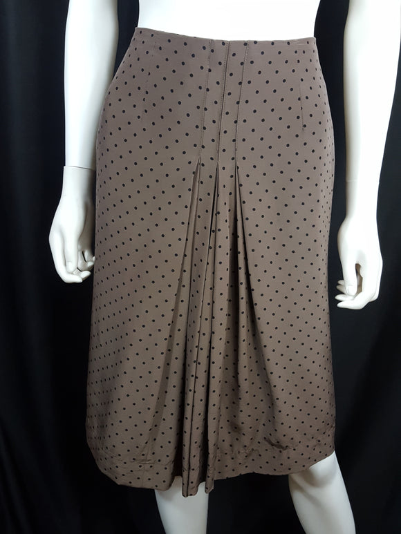 Vintage Silk Polka Dot  Pencil Skirt sz. M