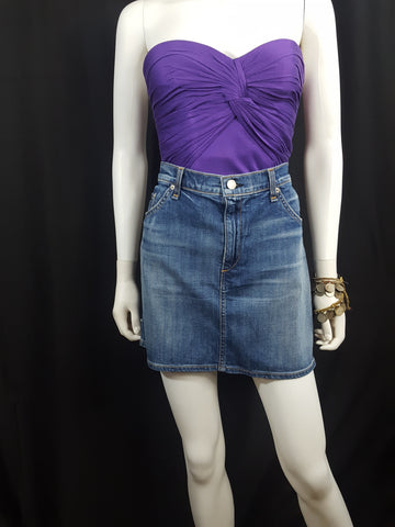 Rag and Bone Jean_ Delancey Denim Skirt_Shop] - [Vintage_ Fashion]- [Thrift_Stores]-Wells Resale and Company