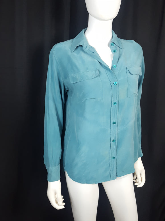Recycle, Restyle, Resuscitate Equipment Silk Blouse size M