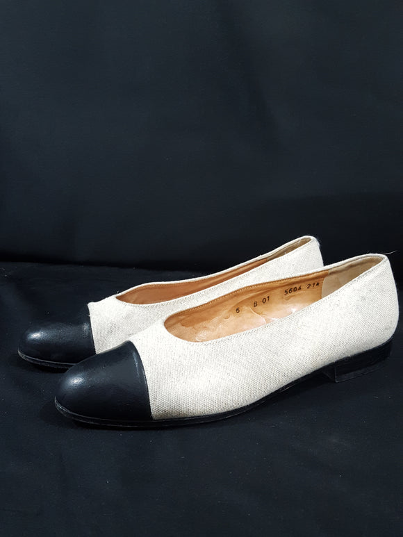 Robert Clergie Leather Cap Flats size 7