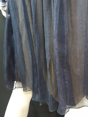 So Nice Silk Chiffon Skirt size S