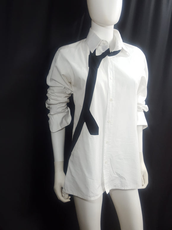 Kris Van Assche Loosen Your Tie Graphic Button Down Shirt size 46