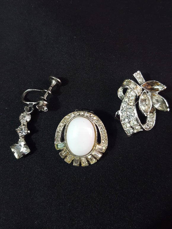 Vintage Mix & Match Costume Earring Set