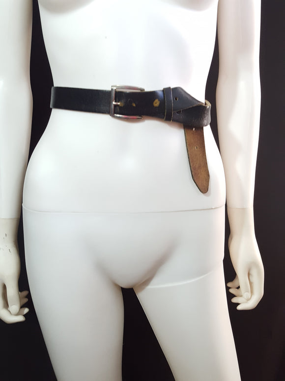 Top Grain Oil Tan Leather Belt Size L