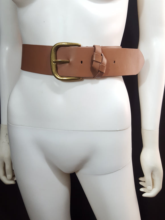 Talbots Extra Wide Leather Belt sz. M