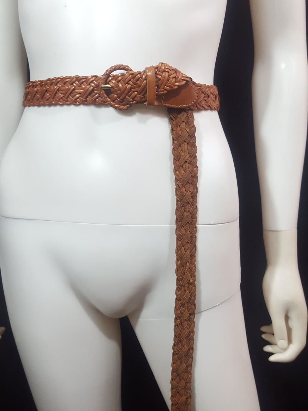 Talbots Braided Leather Belt Size XL