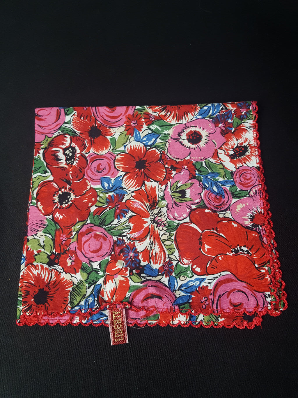 Liberty Handmade Floral Cotton Pocket Square