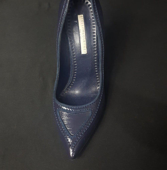 Stella McCartney Pointy Toe Patent Leather Pump Size 38