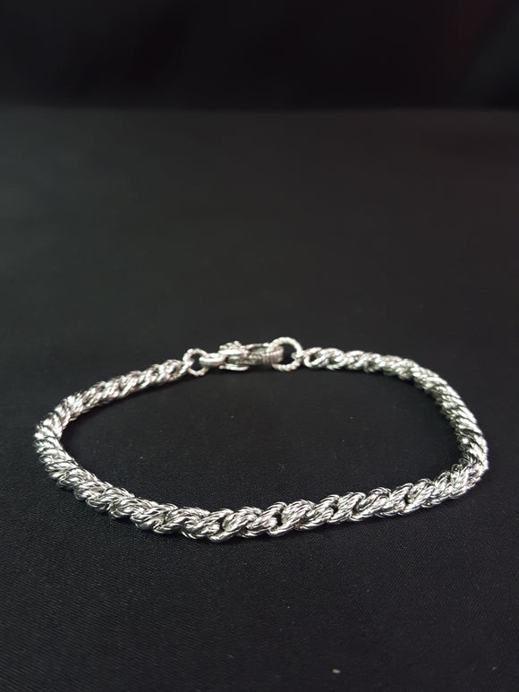 Judith Ripka 925 CZ  Silver Thailand Rope Braclet