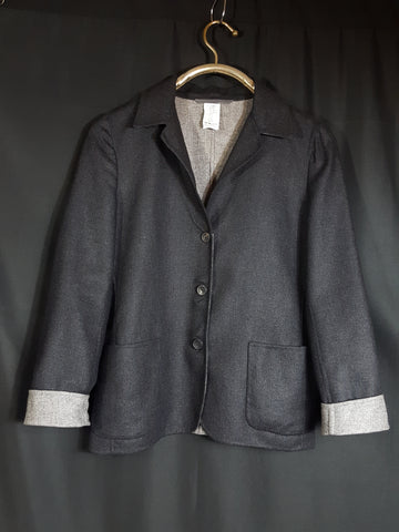 Wordly Thing's by Kamanta Cashmere and Silk Jacket Piacenza 100% Cupro Size 42