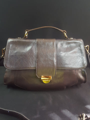 Lauren Merkin Brown Ombre Marlow Leather Satchel