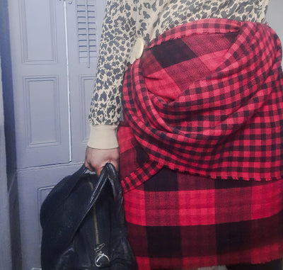 Lane Bryant Plaid Blanket Scarf