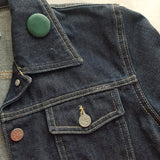 Leather Button Pin