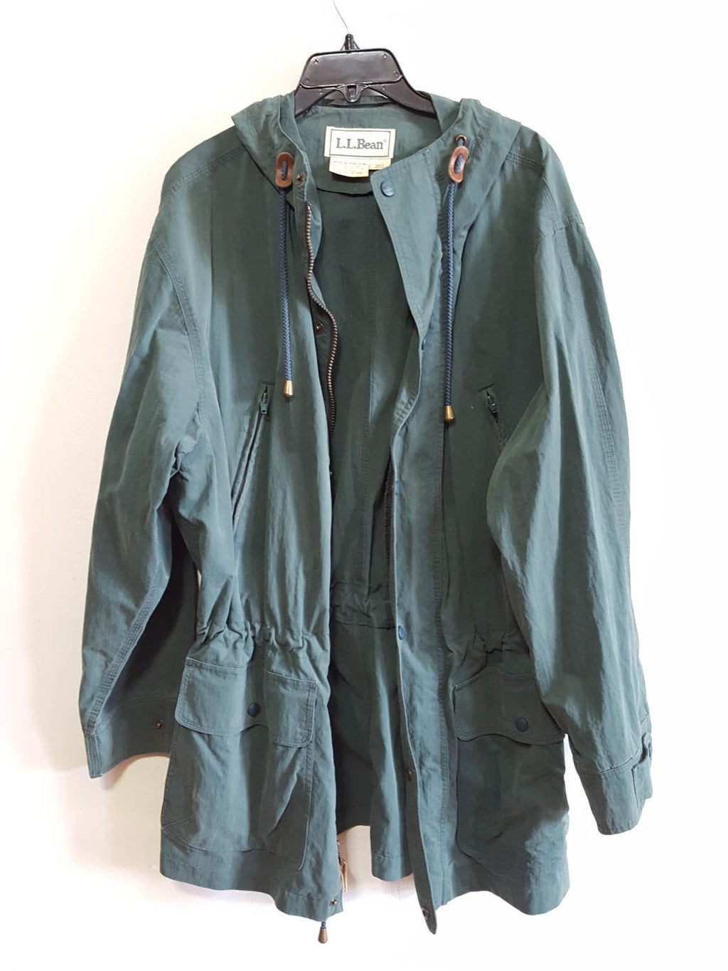L.L. Bean Drawstring Jacket, Unisex, Green, Sz. M
