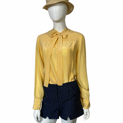 Vintage - Silk - Blouses - Scali - Yellow - Lucille Golden Vintage