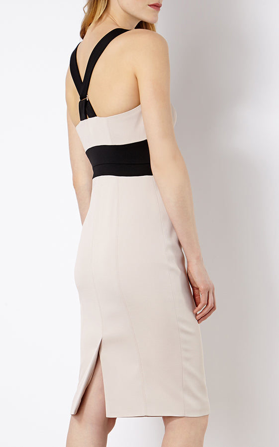 Karen Millen Cross Over Strap Bodycon Size 12