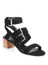 Rebecca Minkoff Ilana Sandals Black Suede Shoes Preowned WellsResale and Co