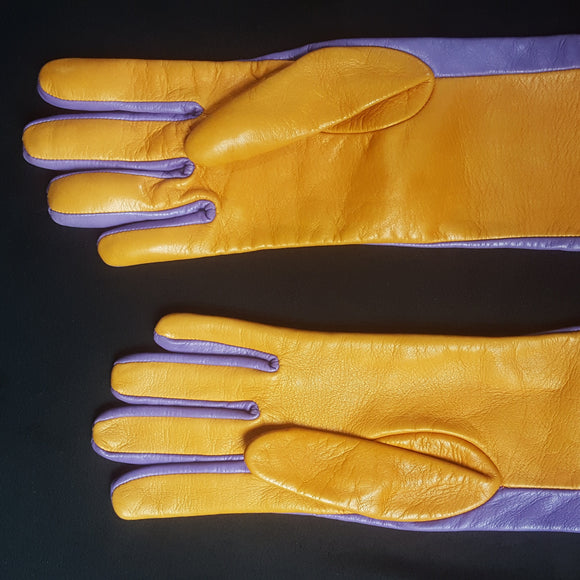 Missoni Color Block Sleeve Leather Gloves