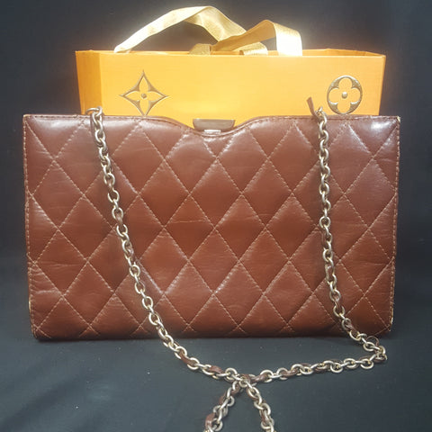 Vintage Quilted Leather Handbag