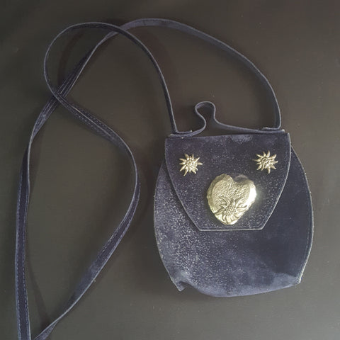 Imma Vintage Velvet Suede Top Handle Mini Bag