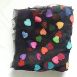 Patrick Kelly Runway Of Love Mesh Heart Shawl