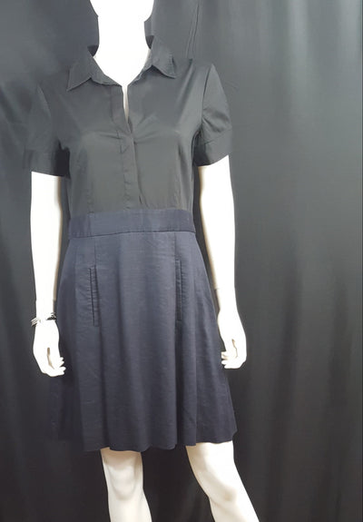 Theory Black and Navy Shirt Dress sz. 12, Dresses, Theory, [shop_name