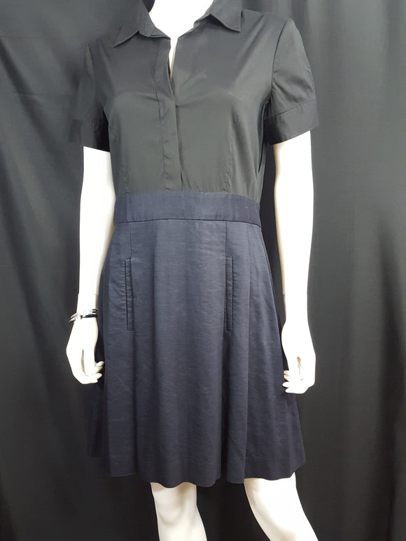 Theory Black and Navy Shirt Dress sz. 12
