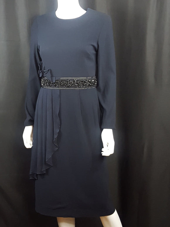 Navy Longsleeve Sheath Dress size 4
