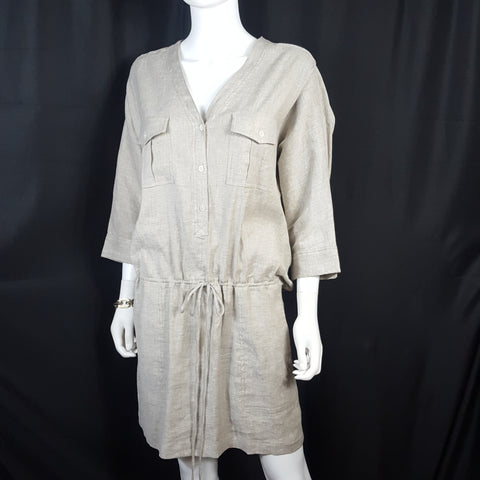Theory Linen Silk Shirt Dress sz. 8
