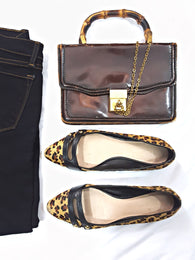 Kate Spade Leopard Print Calf Hair Flats Preowned WellsResale and Company