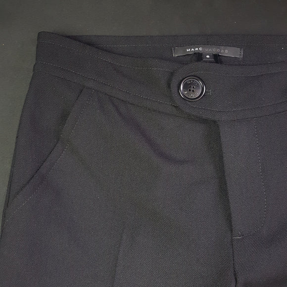 Marc Jacobs Black Wool Trousers Size 6 Petite