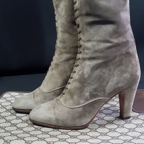 Vintage Suede Gucci Boots  size 36