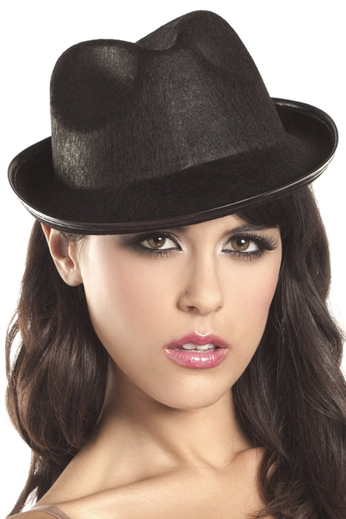 Felt Gangster hat (no band)  sc 1 st  LALA Trends & Shop for hats at LALA TRENDS: Accessories Black Costumes Cowgirl ...