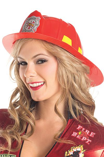 Fire Fighter Hat Red Plastic