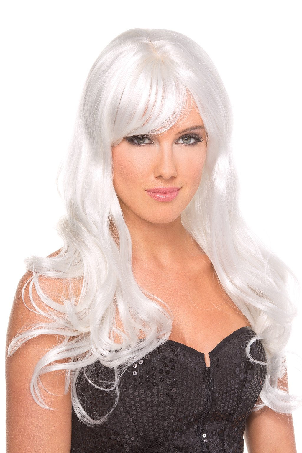 LALA TRENDS Be Wicked Burlesque Wig White Wigs $29.95