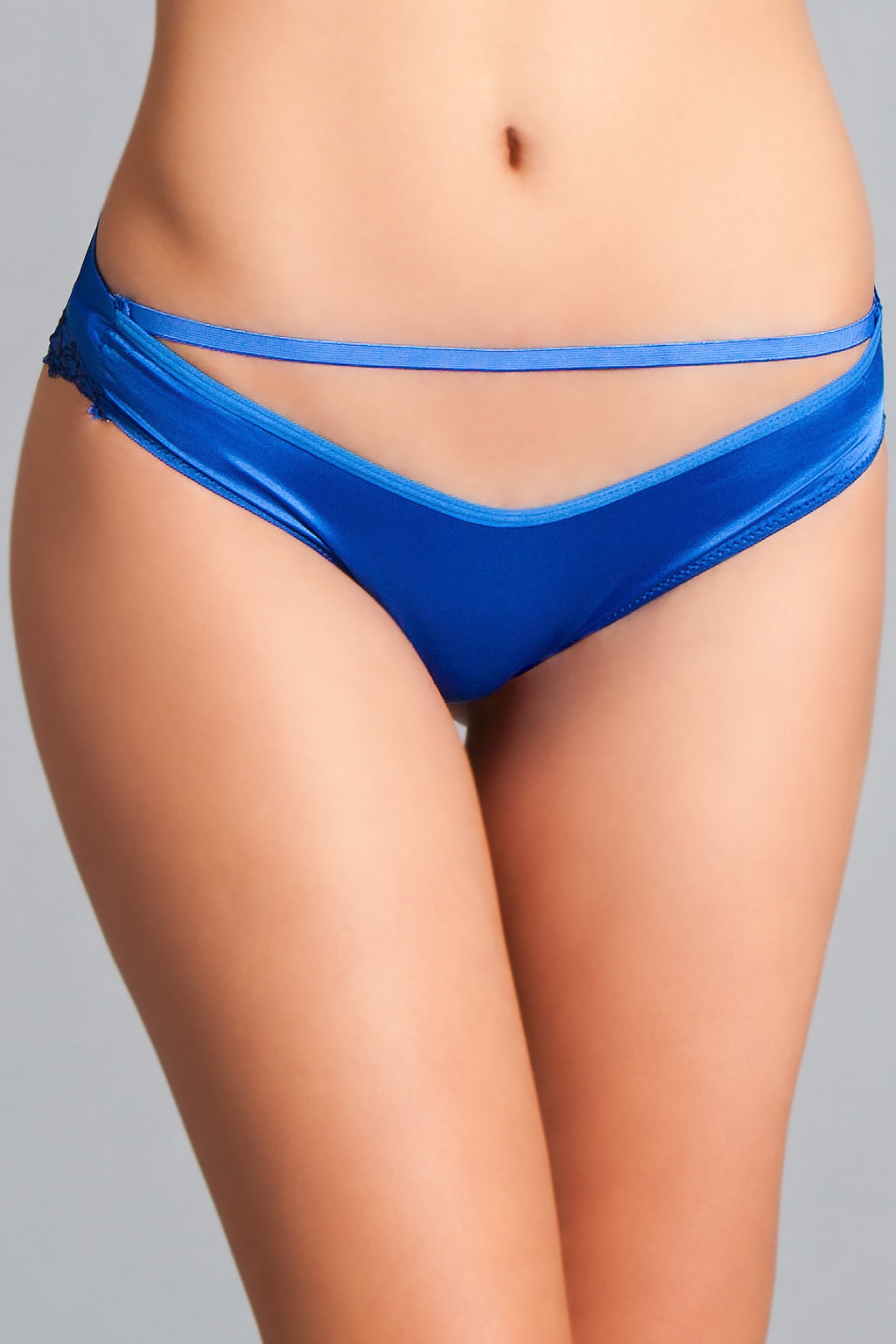 LALA TRENDS Be Wicked Chloe Bow Panty Royal Blue Panty $9.95