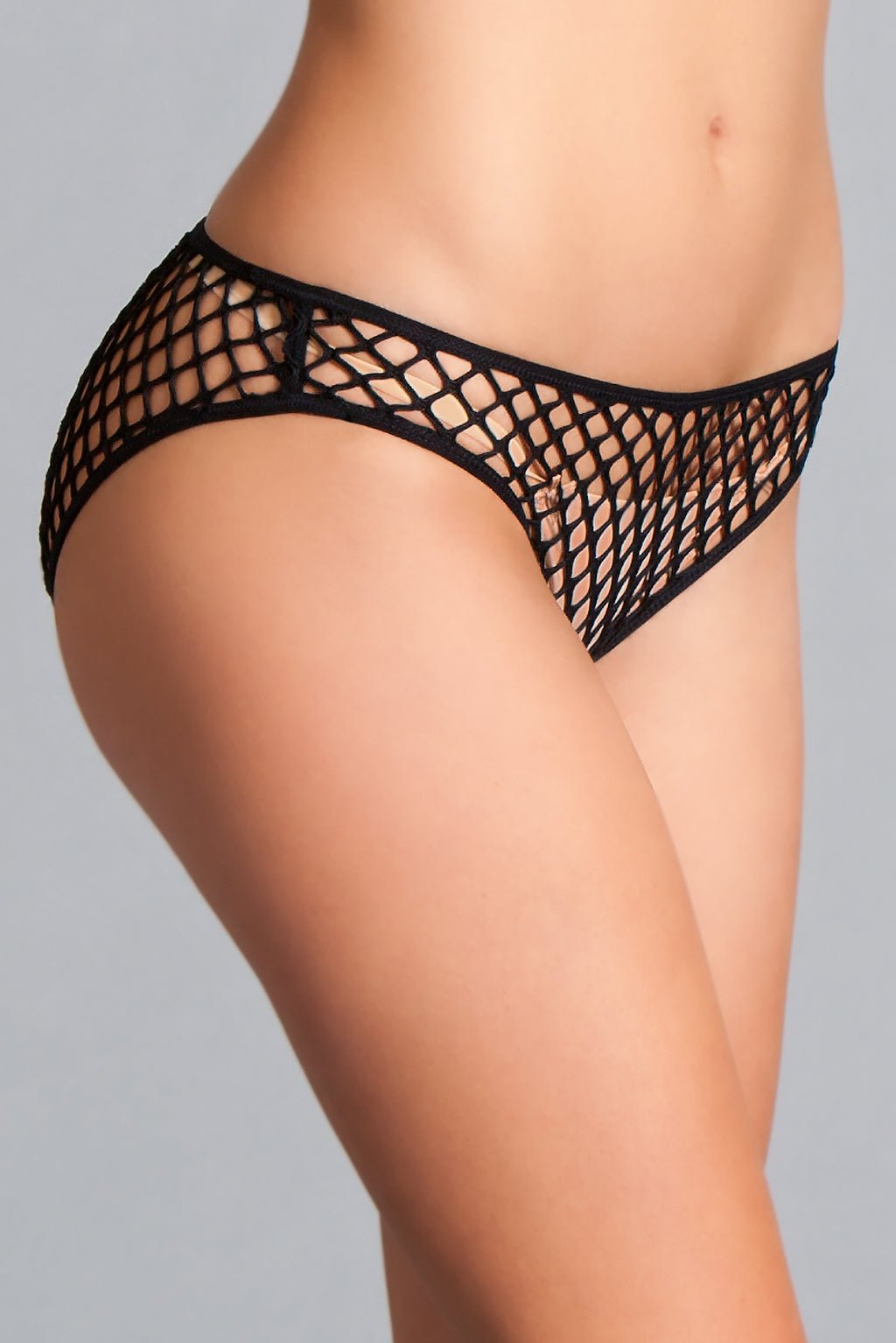 Fishnet Panty Black Panty- La La Trends