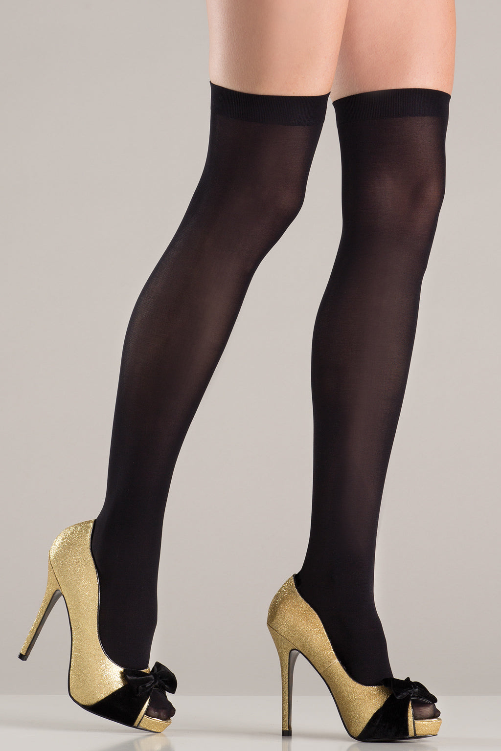 LALA TRENDS Be Wicked Opaque Thigh Highs Black Hosiery $9.95