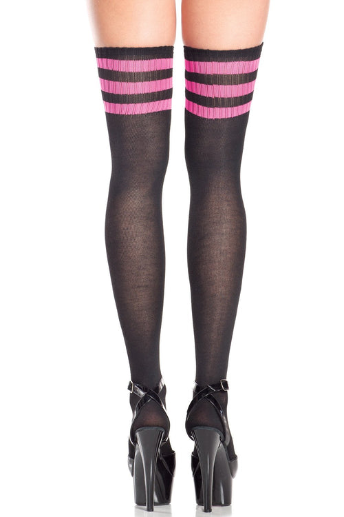 ATHELTIC PINK Thigh Highs