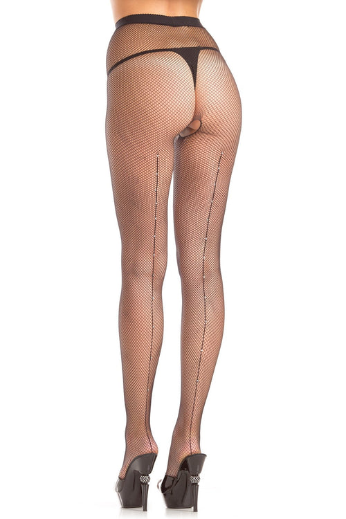 Diamond Backseam Pantyhose