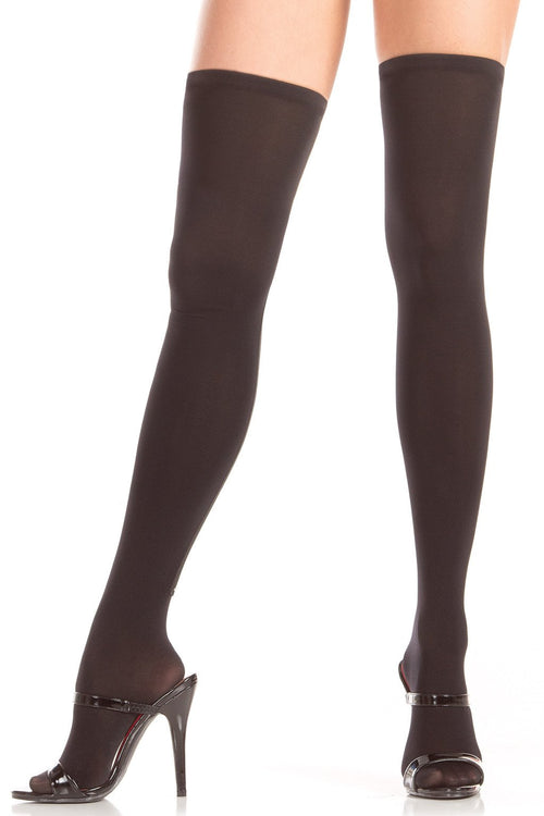 Black Zipper Backseam Knee Highs