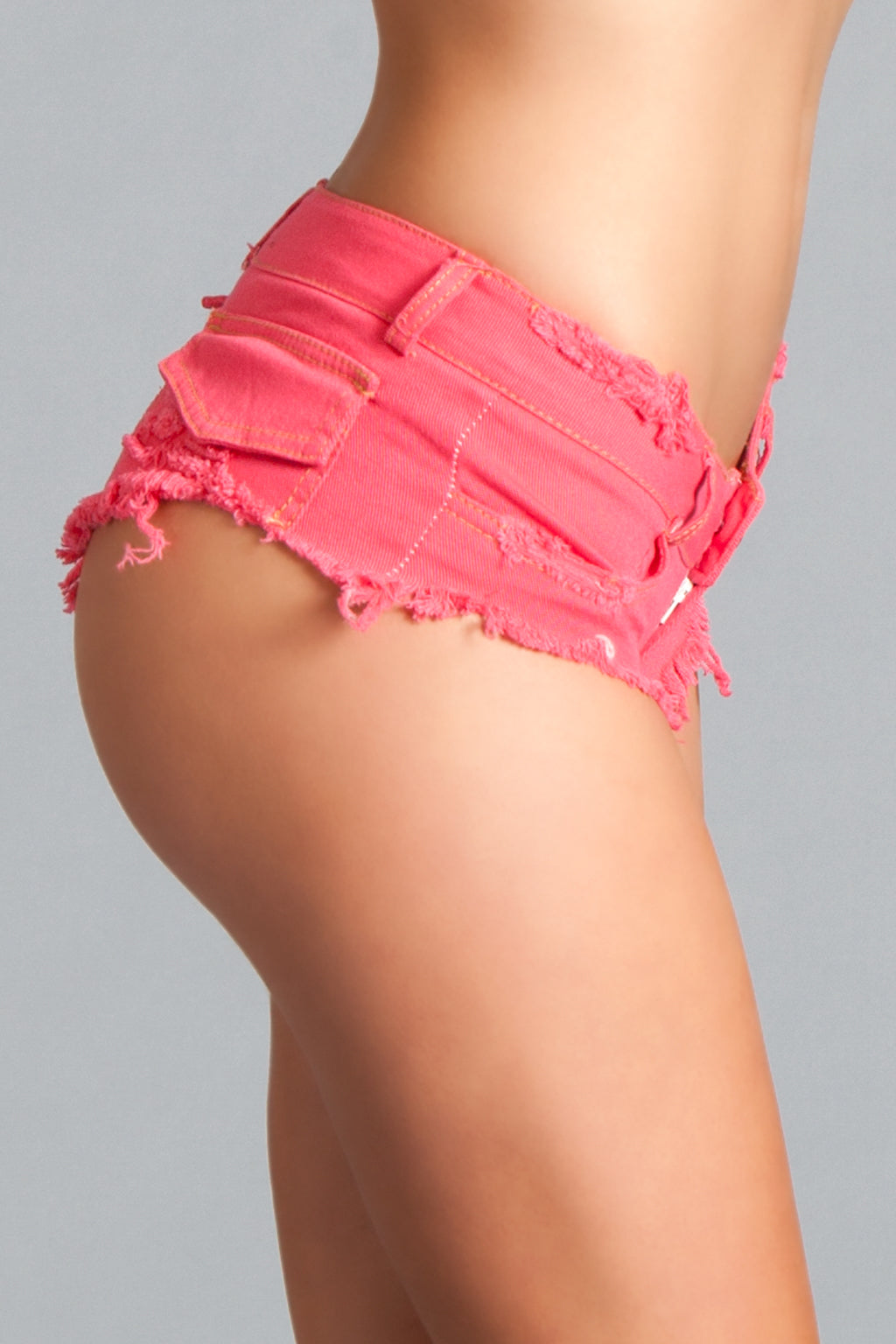 LALA TRENDS Be Wicked Sunny Daze Distressed Cut Off Shorts Hot Pink Booty Shorts $20.95