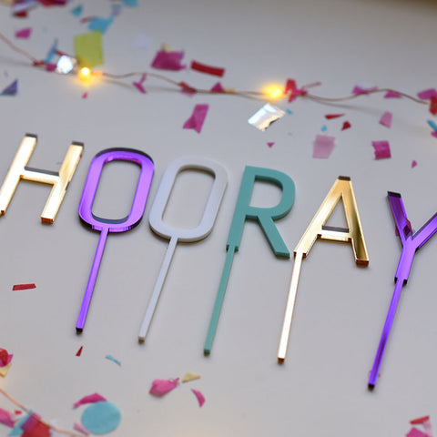 Hooray Cake or Cupcake Topper
