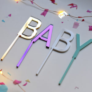 BABY Shower Cake Topper | Cupcake Topper