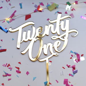 Twenty One 21st Birthday Cake Topper