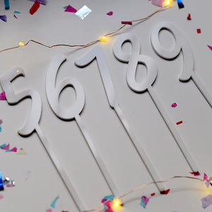 0 Numeral Birthday | Cake Topper