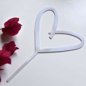Love Heart Wedding Cake Topper
