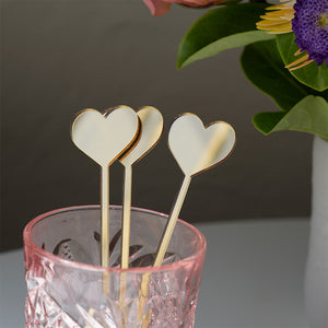 Love Heart Drink Stirrers Set | Swizzle sticks