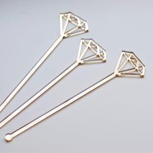 Diamond Drink Stirrers Set | Swizzle sticks